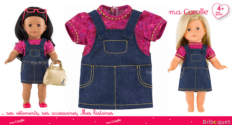 Grenadine Denim Dress for Ma Corolle 36cm Doll Corolle