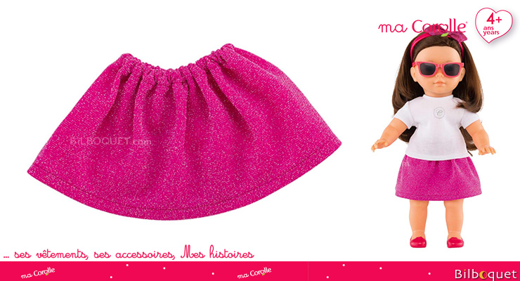 Sequined Skirt for Ma Corolle 36cm Doll Corolle