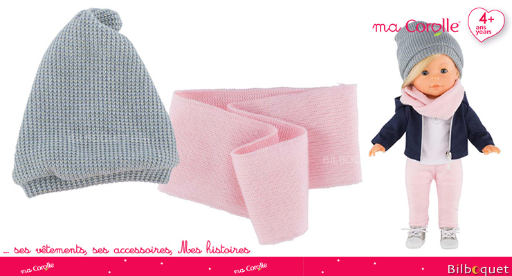 Hat & Snood Scarf for Ma Corolle 36cm Doll Corolle