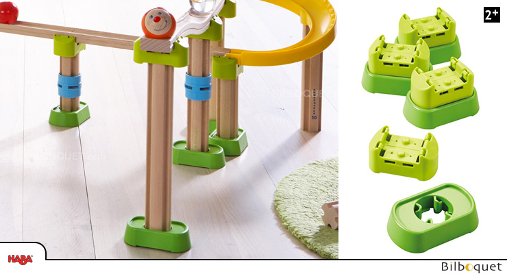 Connectors and Base - Complementary set for Ball Track Rollerby Haba