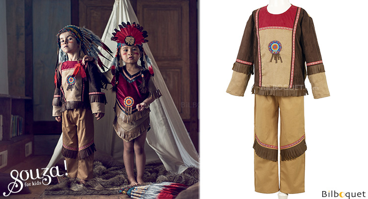 Paytah Indian Outfit - Costume for boy ages 5-7 Souza for kids