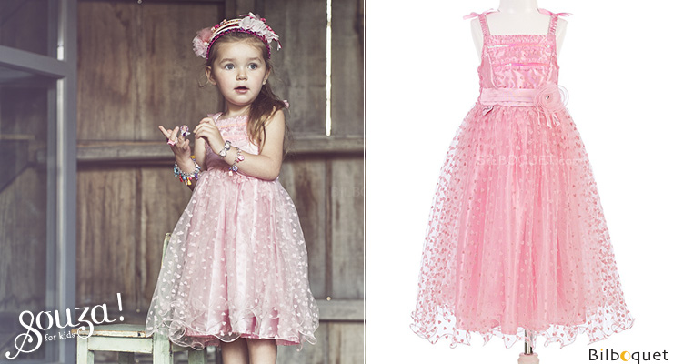 Robe rose Rosalyn - Déguisement fille 5-7 ans Souza for kids