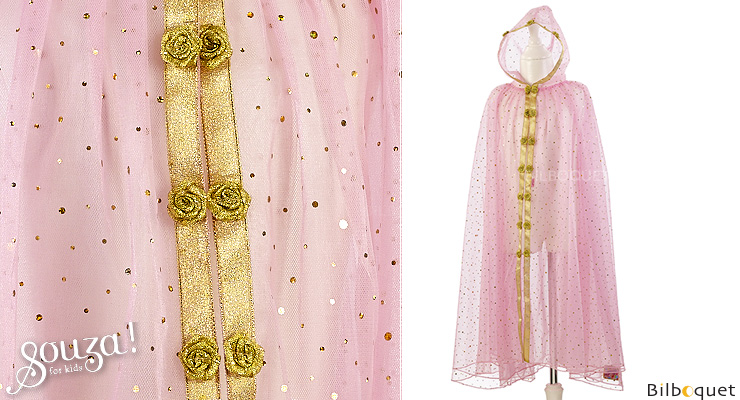 Pink and Golden Cloak Susana - Costume for Girl ages 3-4 Souza for kids