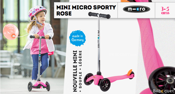 Mini Micro Sporty Rose - Trottinette 3-5 ans Micro Mobility Scooters & Kickboards