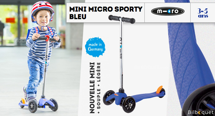 Mini Micro Sporty Bleu - Trottinette 3-5 ans Micro Mobility Scooters & Kickboards