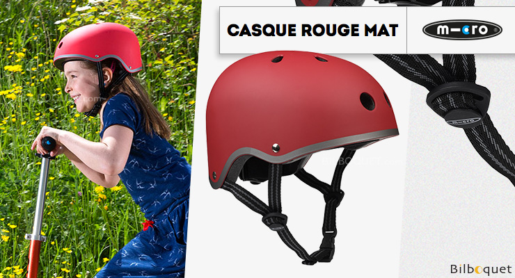 Casque enfant Rouge Mat - Taille M Micro Mobility Scooters & Kickboards