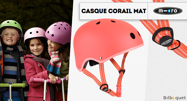 Child Micro Helmet Coral Matt - Size S Micro Mobility Scooters & Kickboards