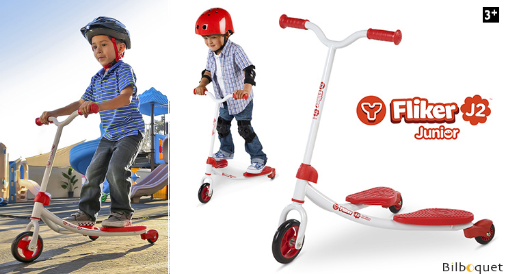 Y Fliker Junior J2 red - Self-propelling Scooter Y Volution