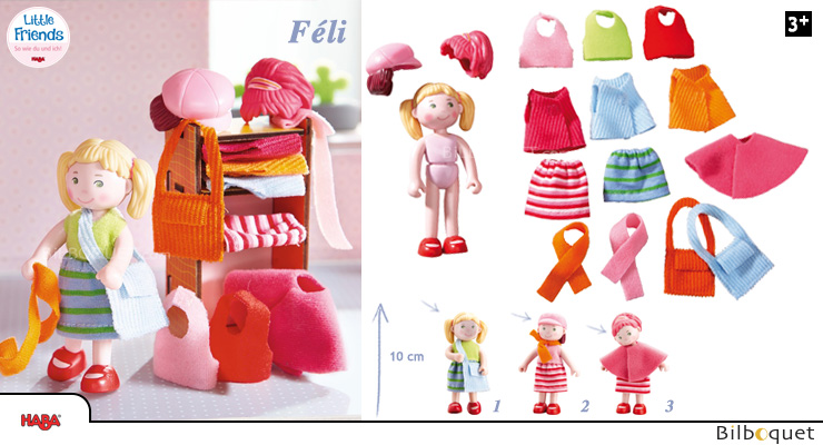 Féli Doll with clothes and accessories - Little Friends Haba