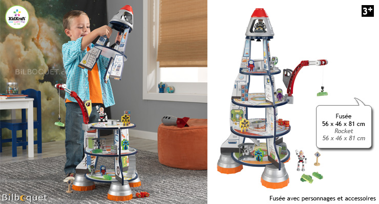Rocket Ship Play Set - Wooden Toy KidKraft