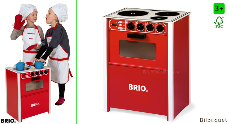 Red Stove - Pretend-play Wooden Toy BRIO