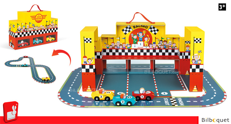Story Grand Prix Suitcase - Model cars and circuit Janod