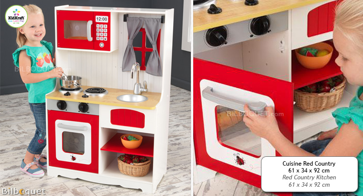 Red Country Kitchen - Pretend Play KidKraft