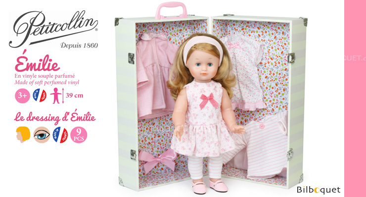 Émilie 39cm Doll with her wardrobe Petitcollin
