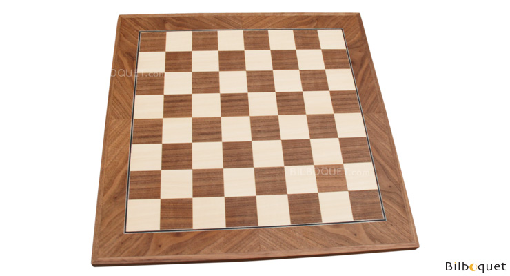 Inlaid Chessboard walnut/sycamore 45mm Squares