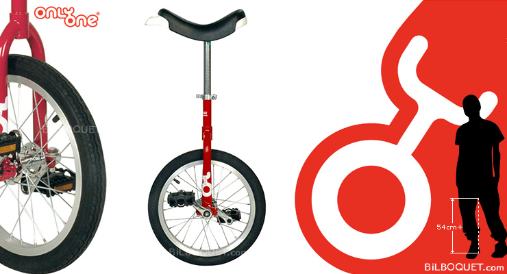 OnlyOne Unicycle Ø40cm (16 inches) red Only One