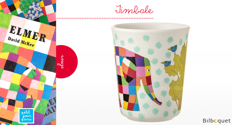 Drinking Cup Elmer Elephant - Tableware for kids Petit Jour