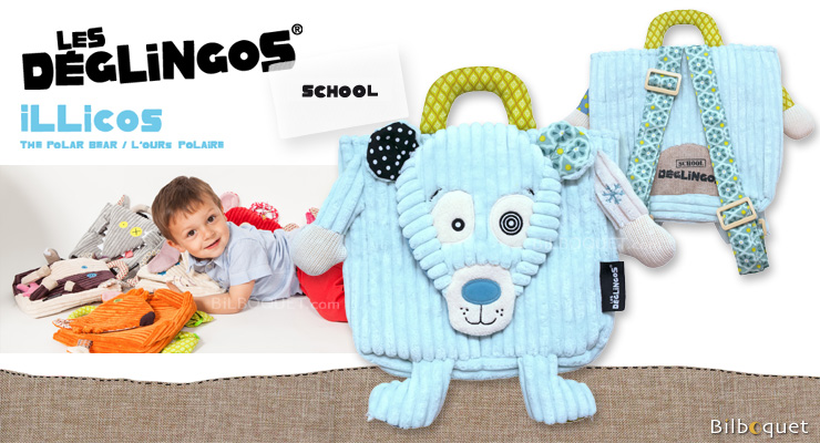 Illicos Polar Bear Backpack - Déglingos School Déglingos