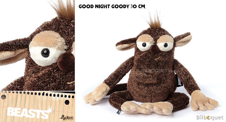 Good Night Goody (peluche macaque 30cm) - Sigikid Beasts Sigikid