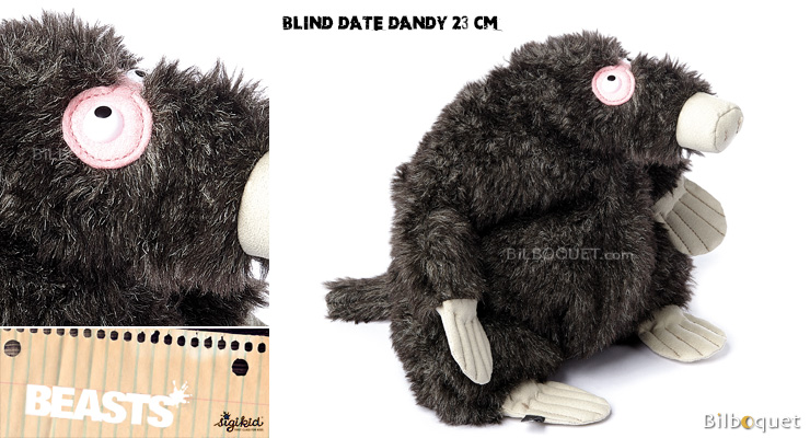 Blind Date Dandy (peluche taupe 23cm) - Sigikid Beasts Sigikid