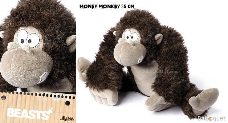 Money Monkey (peluche singe 35cm) - Sigikid Beasts Sigikid