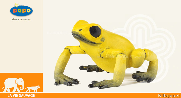 Equatorial Yellow frog - Toy Figurine Papo