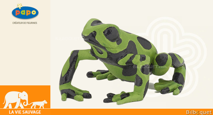 Equatorial Green frog - Toy Figurine Papo