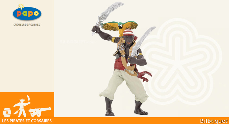 Pirate with sabres - Pirates and Corsairs Figurine Papo