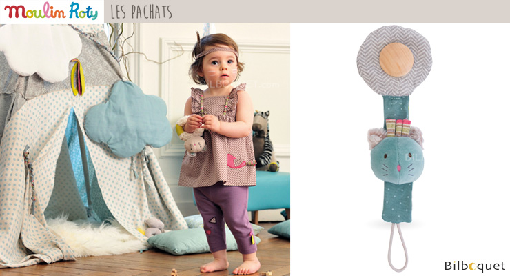 Pacifier Holder Cat - Les Pachats Moulin Roty