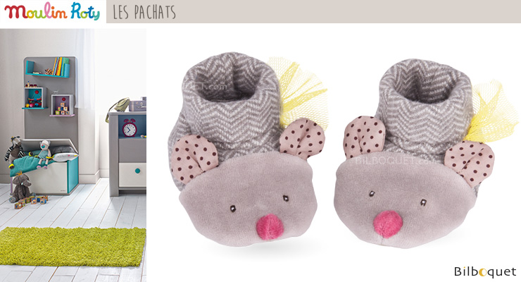Baby Slippers Cat - Les Pachats Moulin Roty