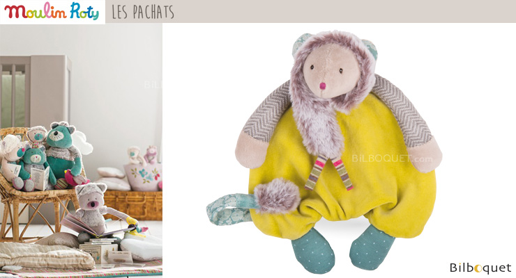 Green Mouse Comforter 25cm - Les Pachats Moulin Roty