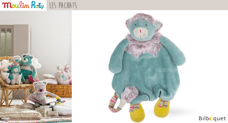 Blue Cat Comforter 28cm - Les Pachats Moulin Roty