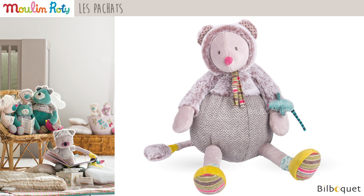 Baby Doll Grey Mouse 34cm - Les Pachats Moulin Roty