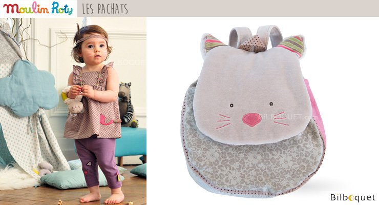 Little Backbag Grey Cat - Les Pachats Moulin Roty
