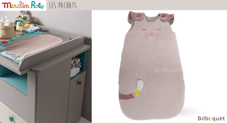 Baby Sleeping Bag 70cm Grey Cat - Les Pachats Moulin Roty