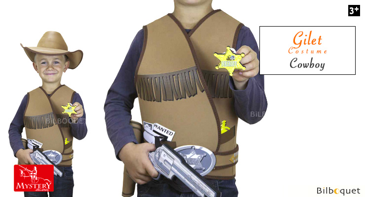 Cowboy Vest (age 5/8) - Child Costume Le Coin Des Enfants