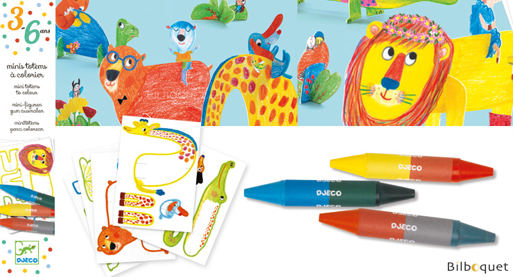 Mini Totems to colour - All friends Djeco