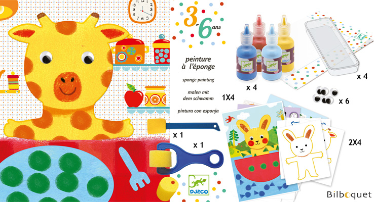 Sponge Painting Workshop - Cuddly Toy Adventures Djeco