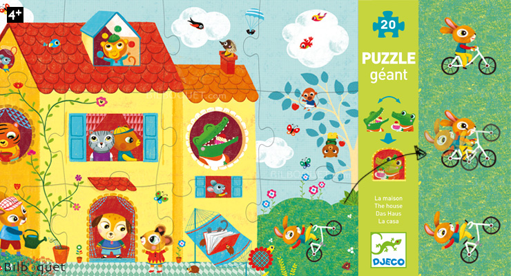 Optic Puzzle - The House - Giant Puzzle Djeco