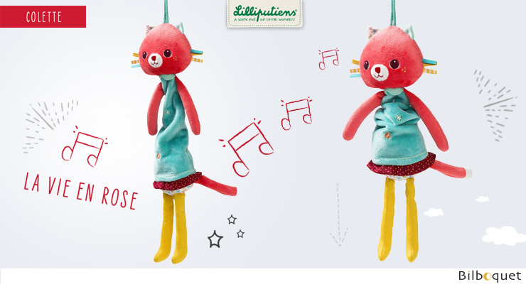 Mini-Musical Colette - Hanging Musical Cat Lilliputiens