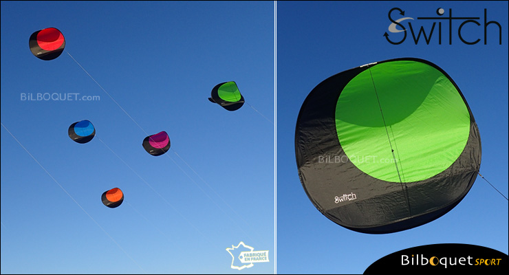 Switch - Single-line Stunt Kite - GREEN Alain Micquiaux
