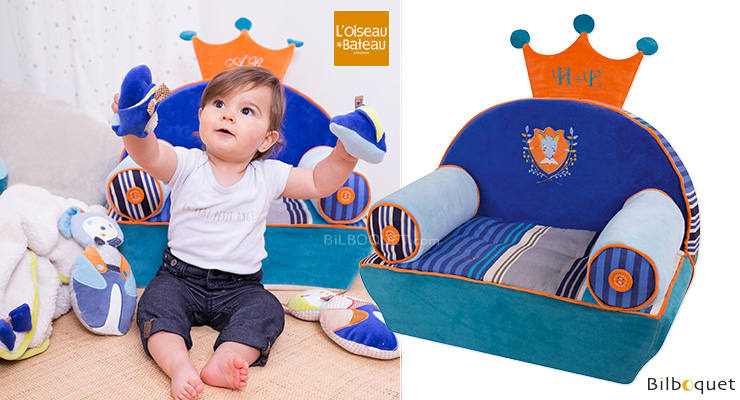 Vraiteuil to be embroidered - Wolf - Custom armchair for kids L'Oiseau Bateau