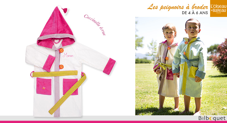Personalized Bathrobe Ages 4/6 - Ladybird L'Oiseau Bateau