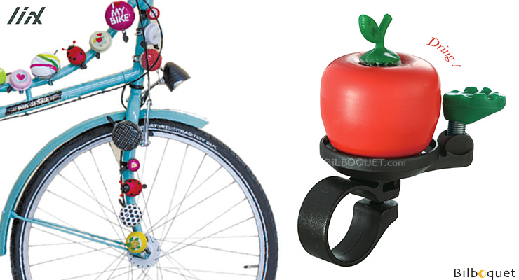 Bike Bell Apple Red - Liix Funny Bell Liix