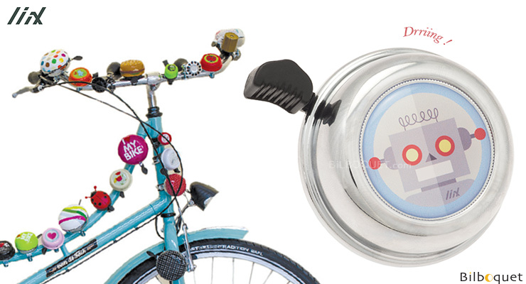 Sonnette de vélo chrome Robot - Liix Colour Bell Ø60mm Liix