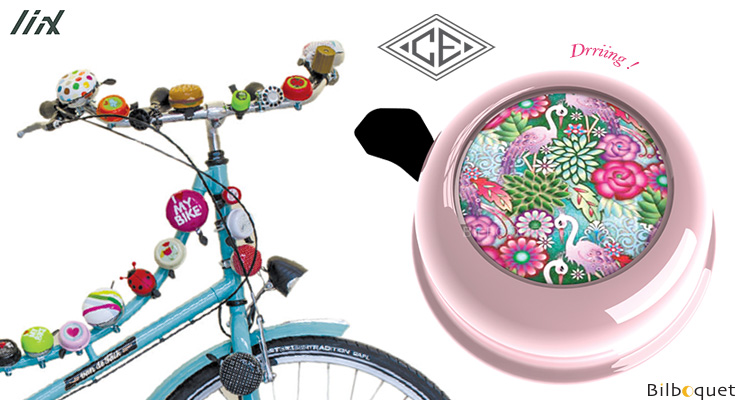 Bike Bell Catalina Estrada Flowers & Flamingo Liix