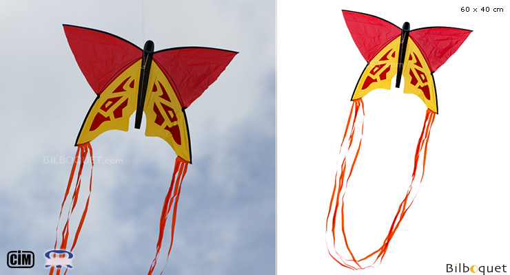 Red Butterfly 60x40cm - Single-line Kite for Kids Colours in Motion