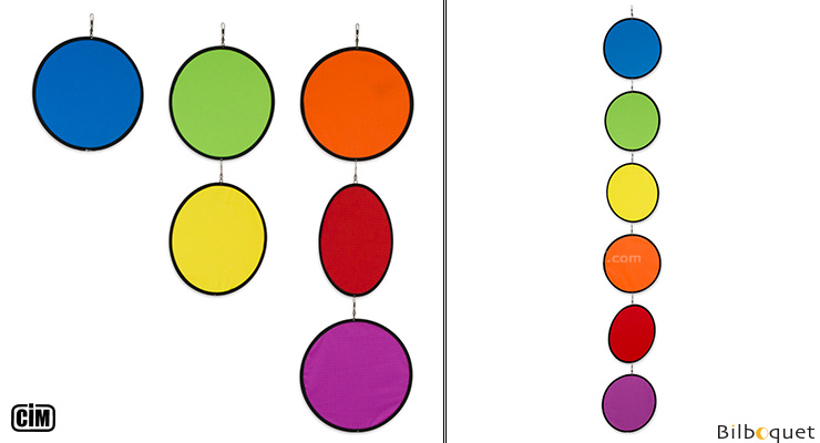 Tambouri Rainbow Circles - Mobile for indoor/outdoor Colours in Motion