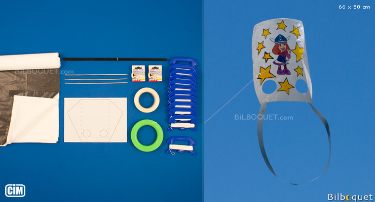 Kit de fabrication pour 12 Cerfs-volants Luges Colours in Motion