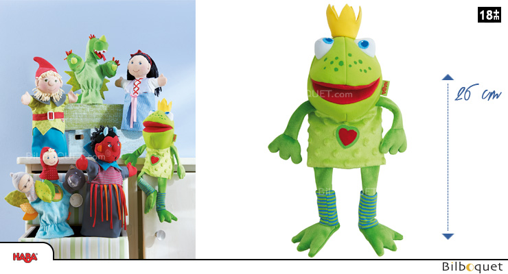 Glove Puppet Frog King Haba